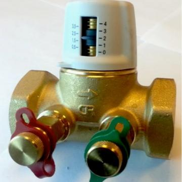 Variable orifice valve with knob set at index 2.