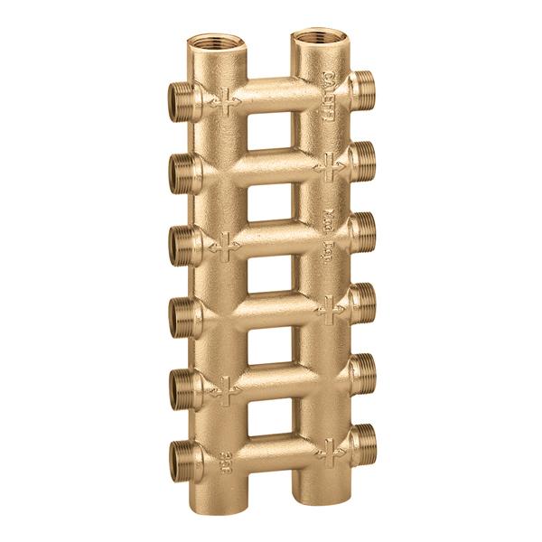 356 collettore complanare fuso monoblocco caleffi italia for Temperatura acqua termosifoni