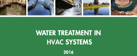 New guide: WATER TREATMENT IN HVAC SYSTEMS