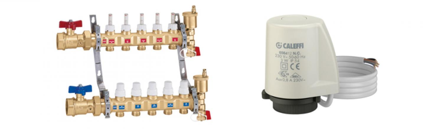 Hydronic Distribution Manifolds, Thermo-electric Actuators