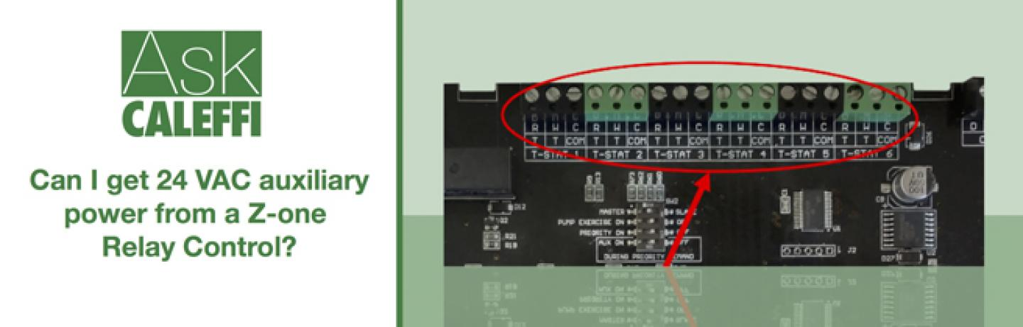 Can I get 24 VAC auxiliary power from a Z-one Relay Control?