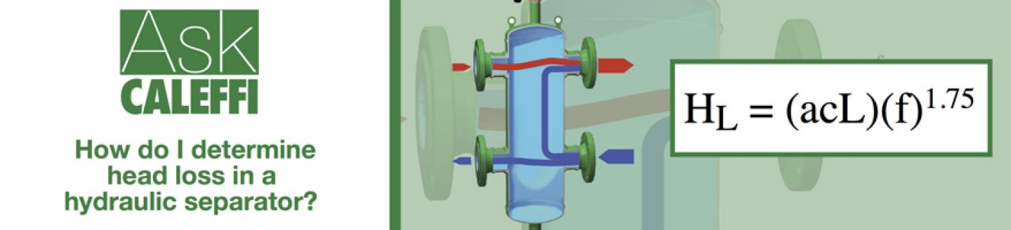 How do I determine head loss in a hydraulic separator?