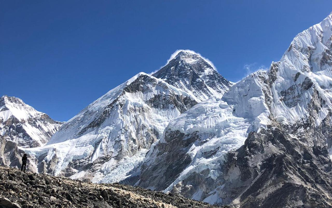 Caleffi at the base of Everest