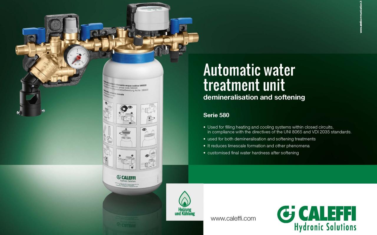 Automatic water treatment unit 580