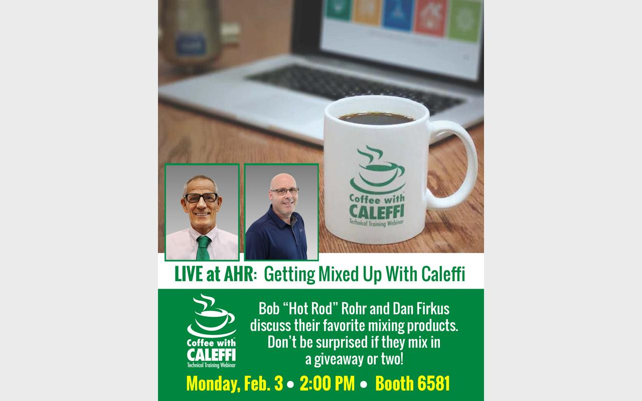 Coffee with Caleffi LIVE at AHR 2020