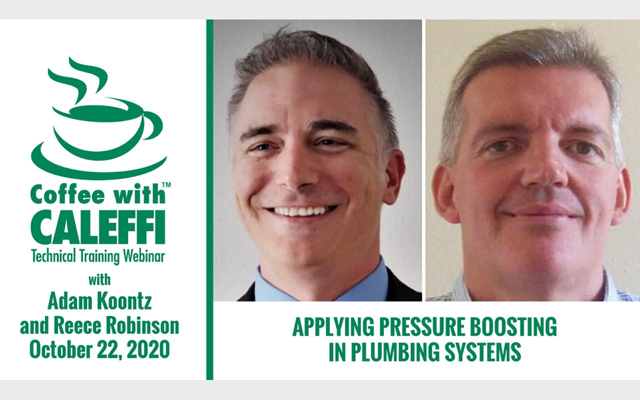 Coffee with Caleffi™:  Applying Pressure Boosting in Plumbing Systems