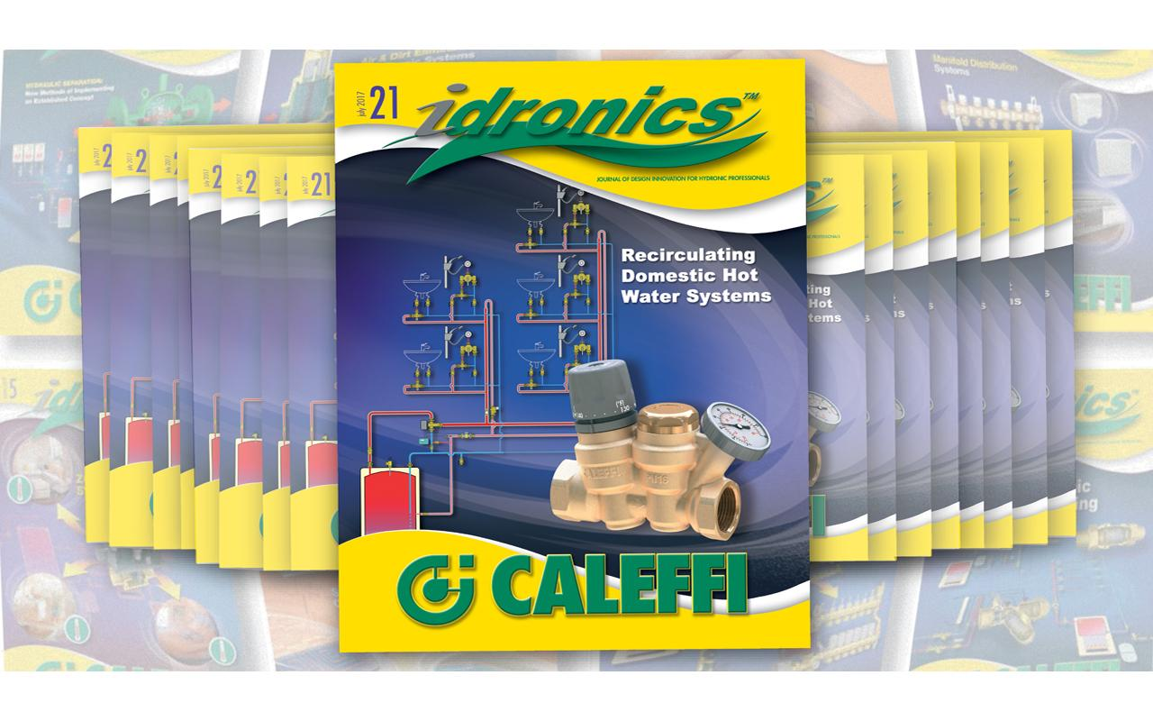 Introducing the 21st edition of idronics:  Recirculating Domestic Hot Water Systems