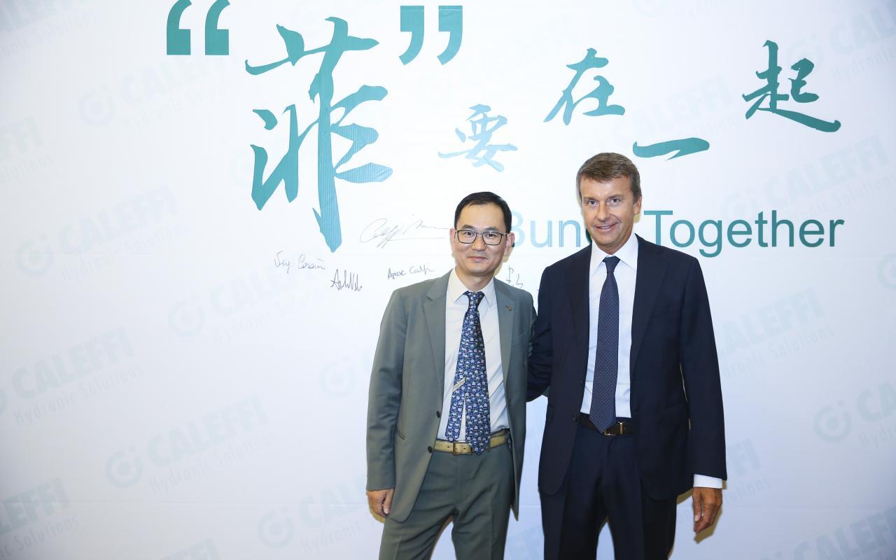 Shu Xuesong and Marco Caleffi
