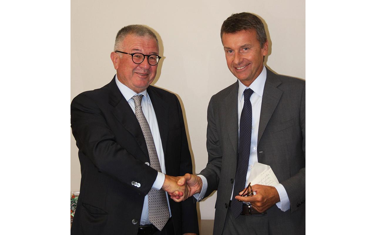Alberto Cristina e Marco Caleffi all'acquisizione
