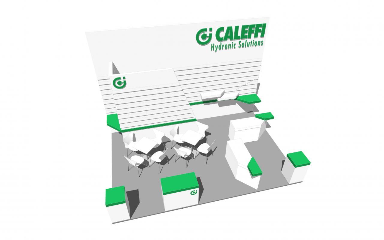 Caleffi mockup of Dubai BIG5 stand