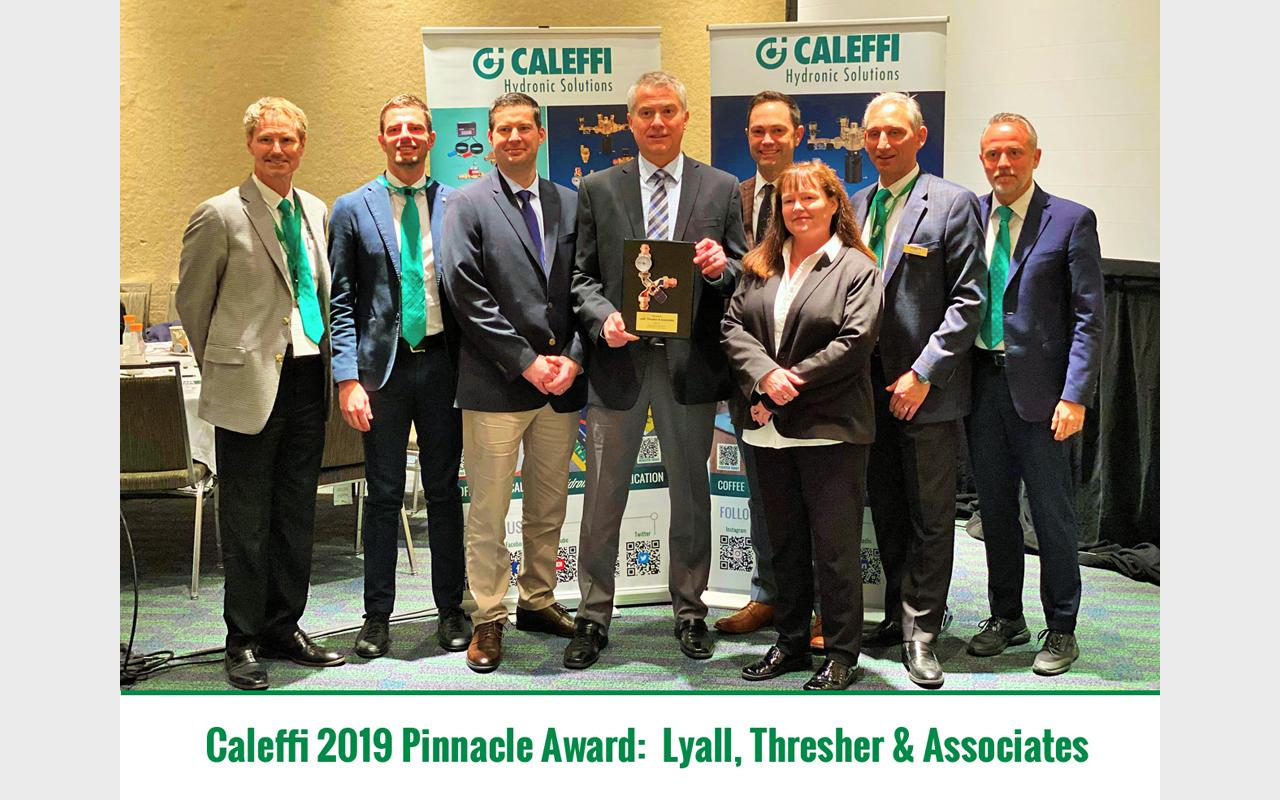 Caleffi Proudly Recognizes Industry Partners:  2019 Pinnacle Award - Lyall, Thresher & Associates