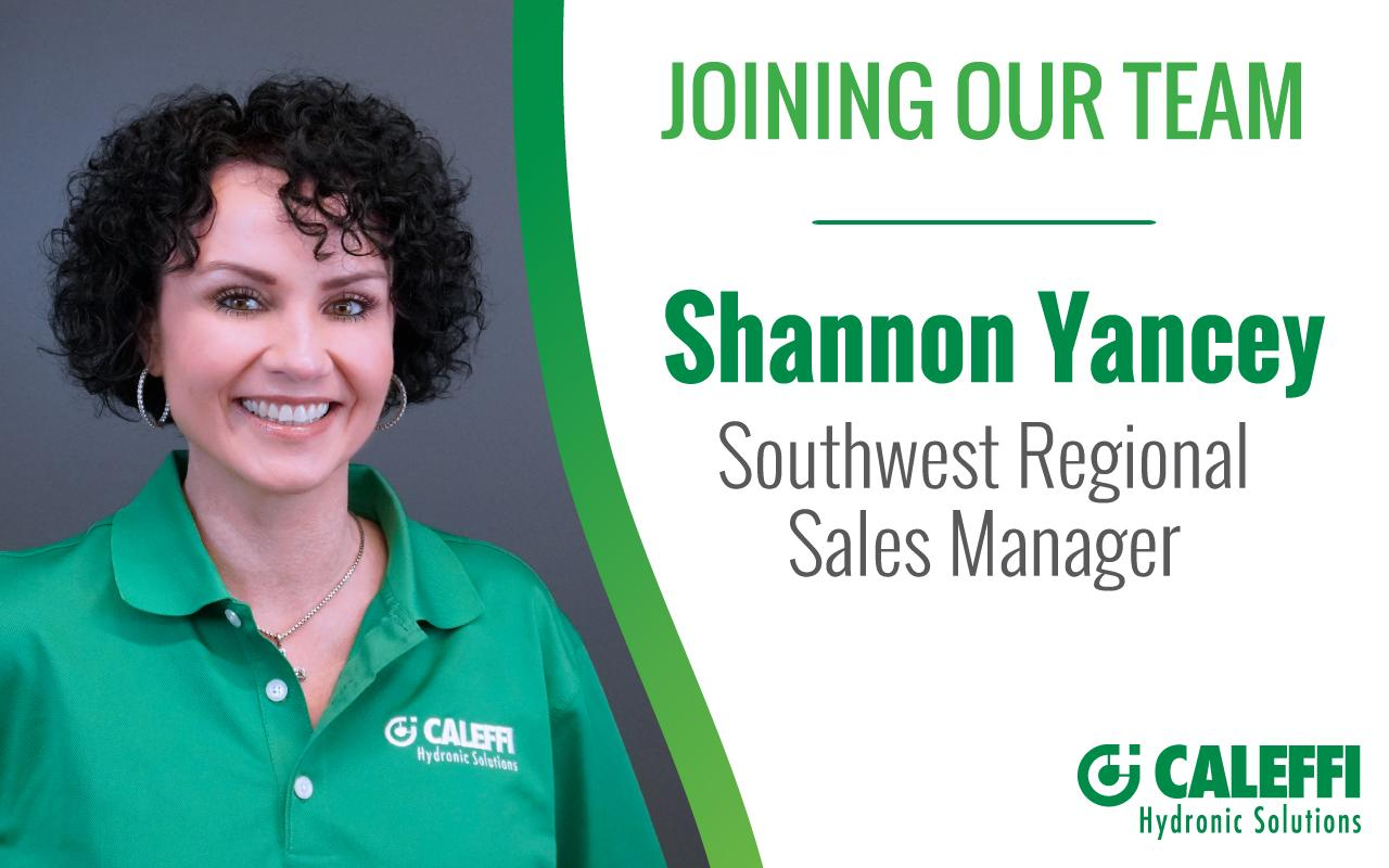 Shannon Yancey Named New Southwest Sales Manager at Caleffi