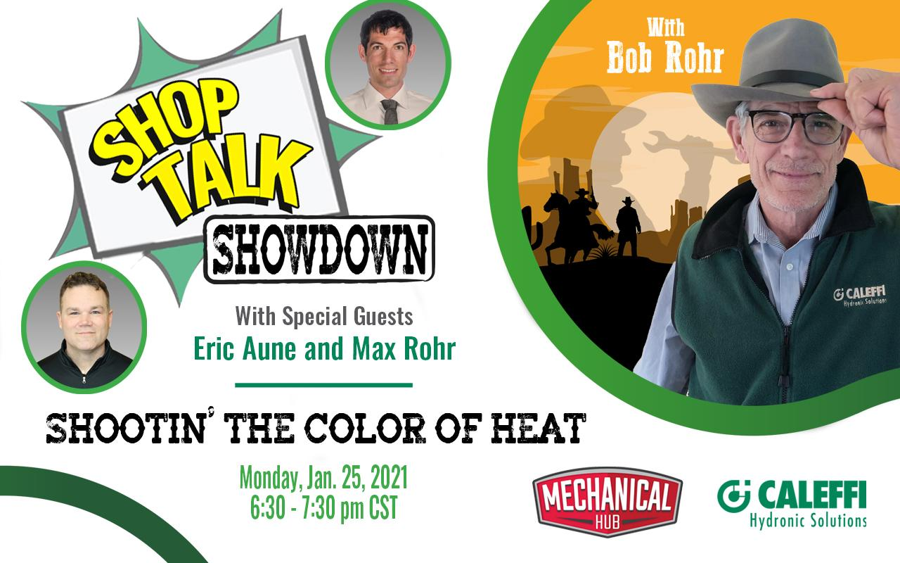 "Shop Talk Showdown with Bob ""Hot Rod"" Rohr:  EPISODE 1 - Shootin' the Color of Heat"