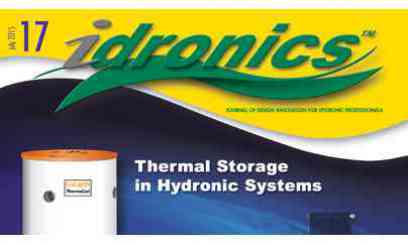 idronics 17:  Thermal Storage in Hydronic Systems