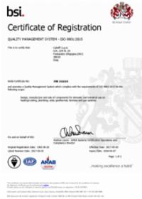Caleffi BSI Certificate