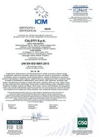 CALEFFI AGGIORNA UNI EN ISO 9001:2015