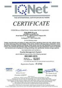 Caleffi IQNET Certification