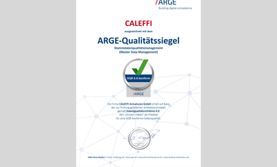 ARGE Zertifikat Caleffi