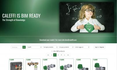 Nouă pagină de internet BIM Caleffi