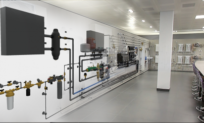 Caleffi modeling its Research Centre in Revit