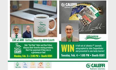 Espresso?  Latte?  Americano?  Caleffi Booth Events at AHR