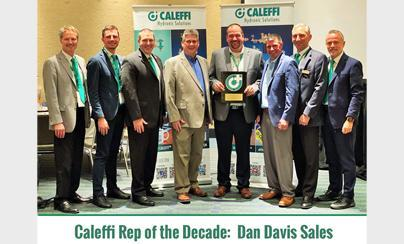 Caleffi Proudly Recognizes Industry Partners:  Rep of the Decade - Dan Davis Sales