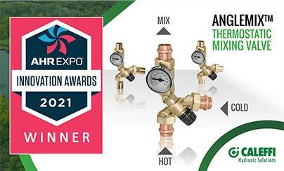 Caleffi AngleMix™ Thermostatic Mixing Valve Named Winner of 2021 AHR Expo Innovation Award