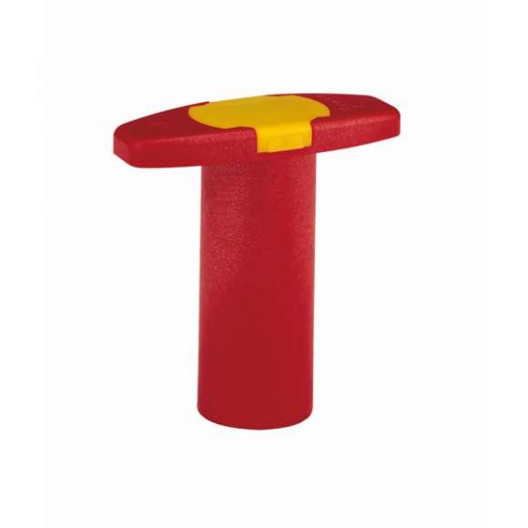 117 - Manípulo plástico de comando da válvula de esfera com dupla função