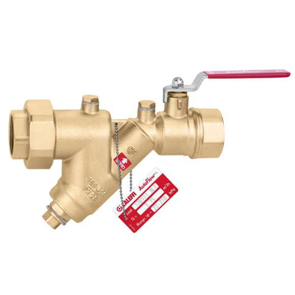 120  - AUTOFLOW® - Automatic flow rate regulator with stainless steel cartridge and ball valve