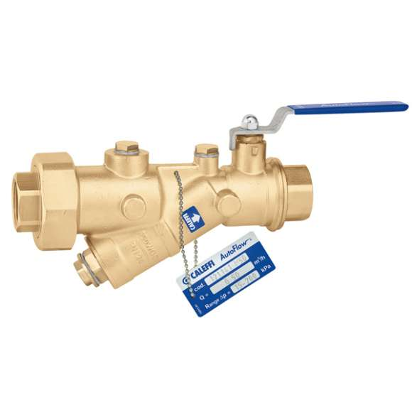121  - AUTOFLOW®  - Automatic flow rate regulator with high resistance polymer cartridge and ball valve