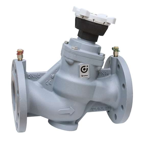 130 - Balancing valve for hydraulic systems. Grey cast iron body, PPS polymer obturator