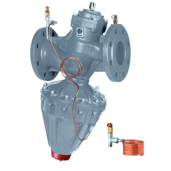 140 - Regulator różnicy ciśnienia (DPCV). Przyłącza kołnierzowe