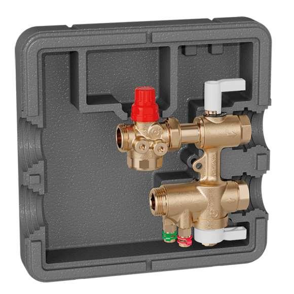 149 - Priključni in regulacijski komplet za HVAC podpostaje. Brez Venturijeve cevi.