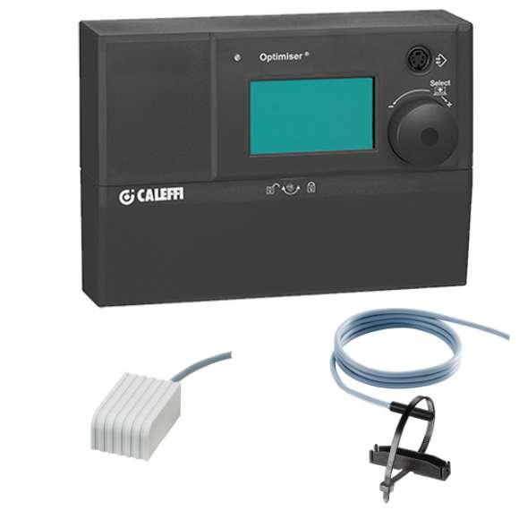1520 - Цифров регулатор на температура  в комплект със сензор на подаващия кръг и сензор за външна температура