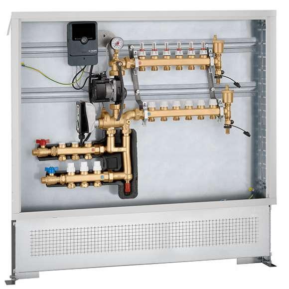 171 - Modulacijska enota za uravnavanje temperature. Predhodno sestavljena v omarici s fiksno digitalno regulacijo za primarni tokokrog