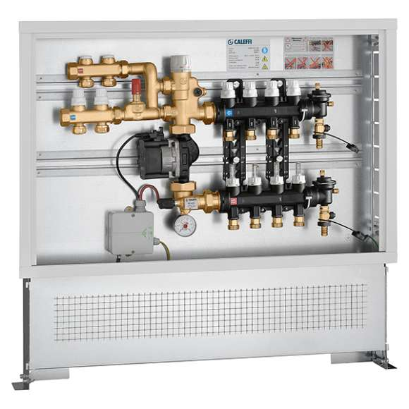 182 - Pre-assembled set point regulating unit in inspection wall box with medium distribution kit for primary circuit