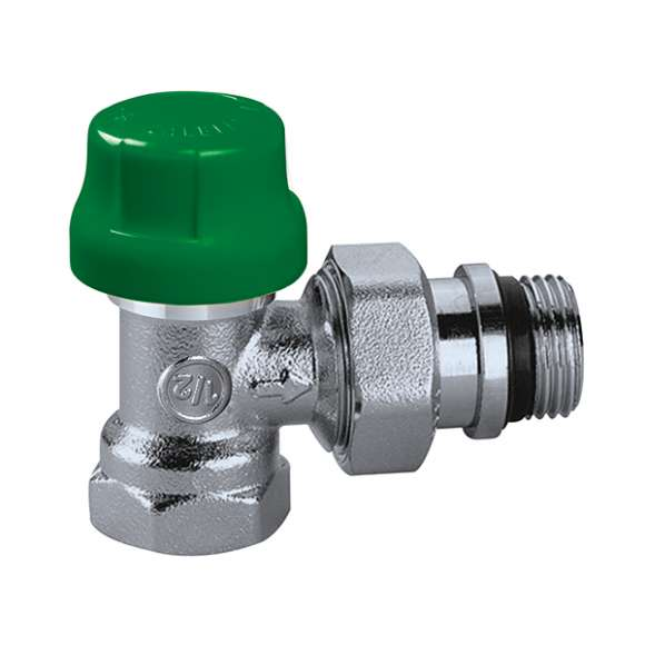 230 - DYNAMICAL® - Angled dynamic thermostatic radiator valve fitted for  thermostatic control heads and thermo-electric actuators. For steel pipe.