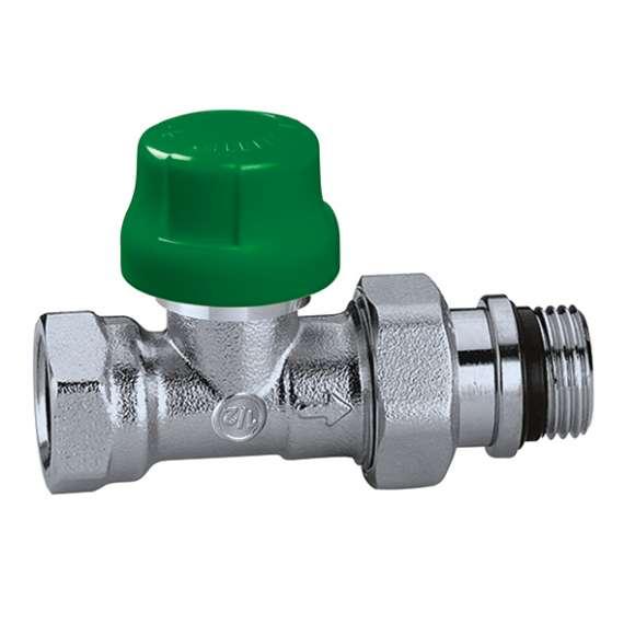 231 - DYNAMICAL® - Dynamisch thermostatisch radiatorventiel. Rechte uitvoering. Voor staalbuis.