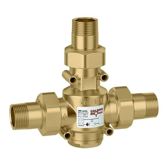 280 - Termoregulační antikondenzační ventil s termostatickým ovládáním teploty média na vratu do kotle na pevná paliva