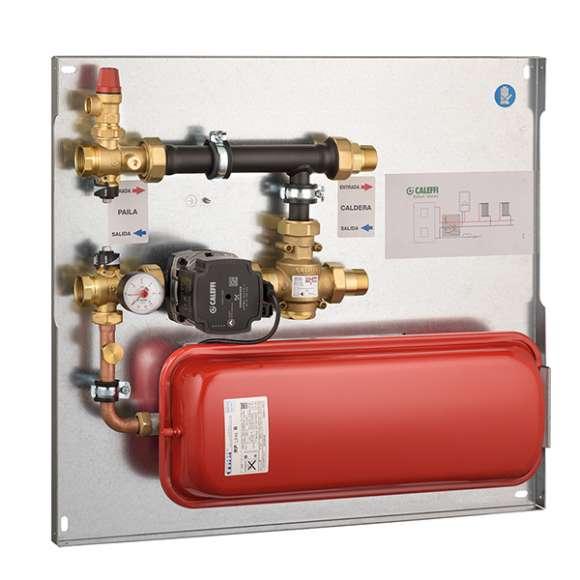 286 - Kompaktna toplotna jedinica za povezivanje i upravljanje energijom sa ekspanzionom posudom i sigurnosnim ventilom.