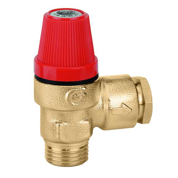 312 - Safety relief valve. Dezincification resistant alloy body. For domestic water systems