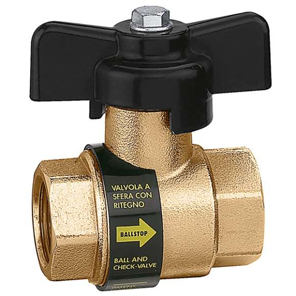 3230 - BALLSTOP - Ball valve with built-in check valve with butterfly handle