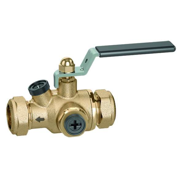 324 - Anti-pollution check valve with built-in shut-off valve. Ø 15 and Ø 22