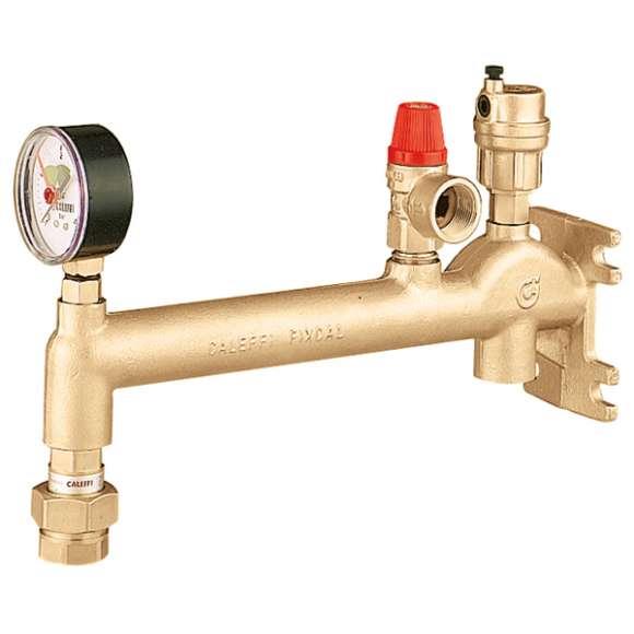 336 - Colector porta-instrumentos montado para instalaciones de calefacción
