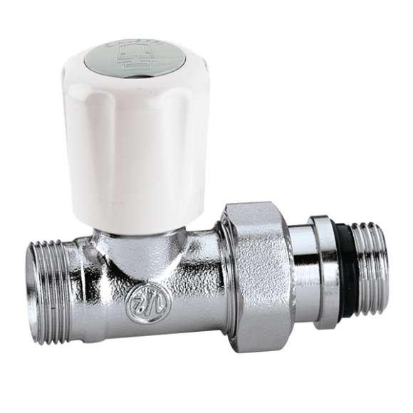 339 - Válvula termostatizável predisposta para comandos termostáticos e eletrotérmicos.Ligação diireita.PE-X
