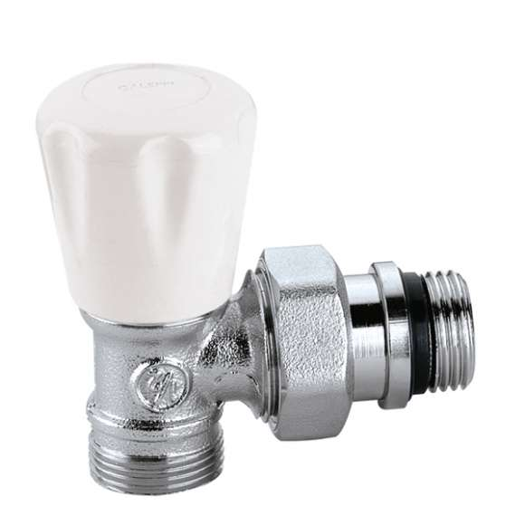 340 - Angled manual radiator valve for copper and plastic pipes