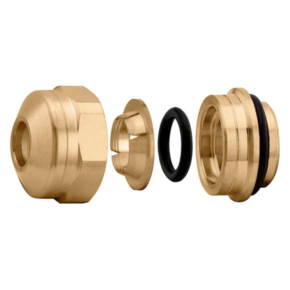 347...S1 - Compression fitting with O-Ring seal. Specific to be used with manifolds 668...S1 series