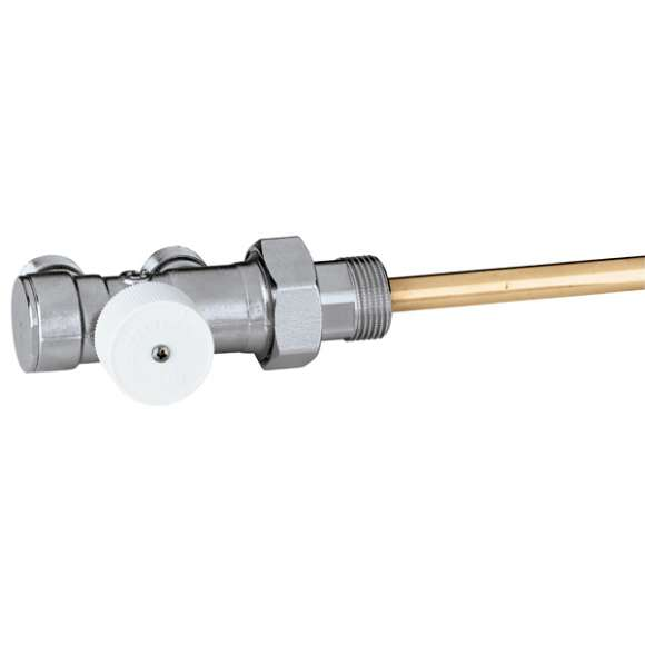 348 - Valvola per impianti monotubo, con comando radiale