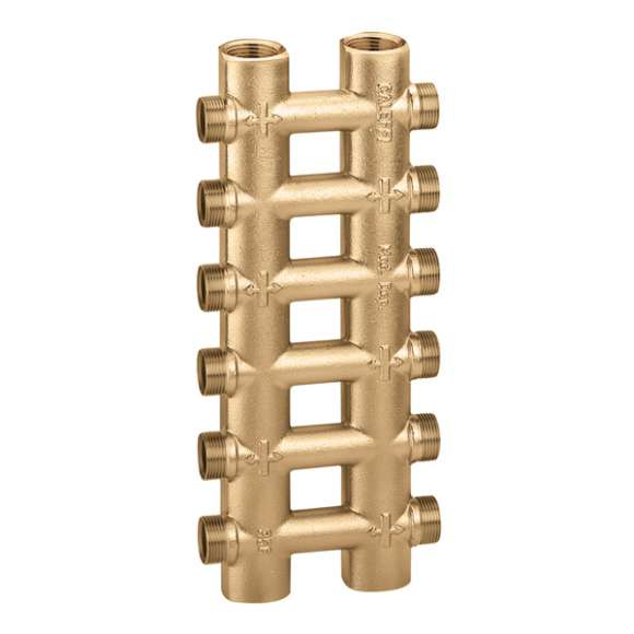 356 - Cast monoblock dual distribution manifold