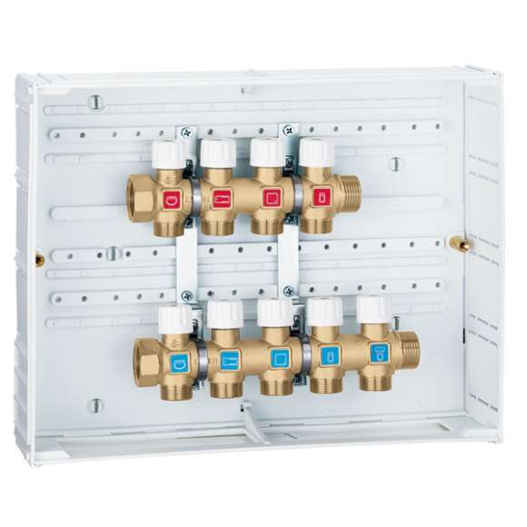 360  - Domestic water distribution manifolds pre-assembled in box